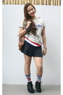 Giordano-hoodie-knee-high-socks-terranova-socks-skater-skirt-topshop-skirt