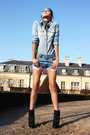 Banana-republic-vintage-shorts-h-m-shirt-bebe-shoes