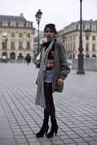 D&G blazer - vintage shorts - Zara jacket - longchamp purse