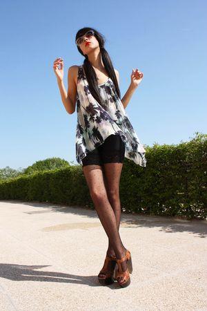 Gerbe tights - Prada sunglasses - Topshop top
