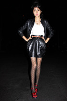 black Ive skirt - Marc Jacobs shoes - black aa tights