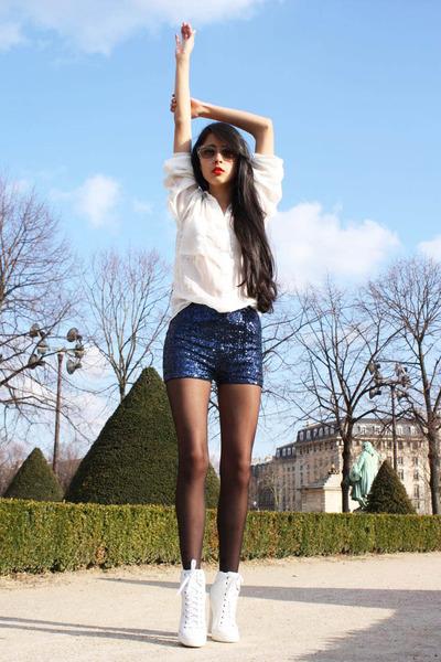 Prada sunglasses - Sergio Rossi shoes - Zara shirt - H&M shorts
