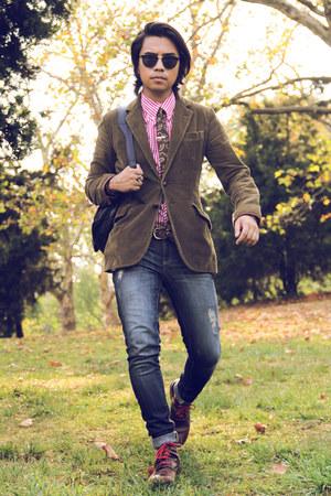 skinny jeans Levis jeans - corduroy Ralph Lauren blazer