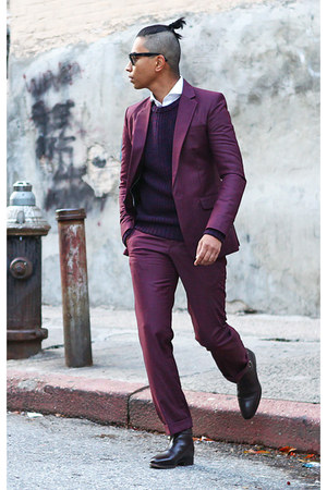 magenta ben sherman suit