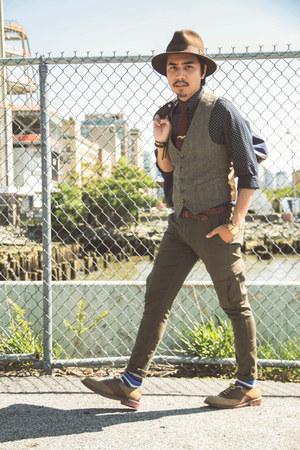 Bass shoes - Topshop shirt - hookalbert socks - JCrew pants