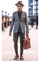 heather gray tweed steven alan blazer