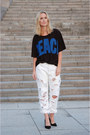 White-trashed-501-diy-jeans-black-pecae-print-acne-t-shirt