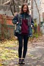 Brown-frye-boots-black-american-apparel-jeans
