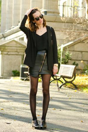 black boyfriend infiniteen blazer - black zip infiniteen skirt