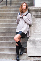 black Senso boots - silver Shopthe26thlook sweater - black Thefreeisland bag