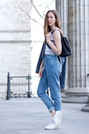 American Apparel jeans - Levis jacket - Pursebox bag - Adidas sneakers