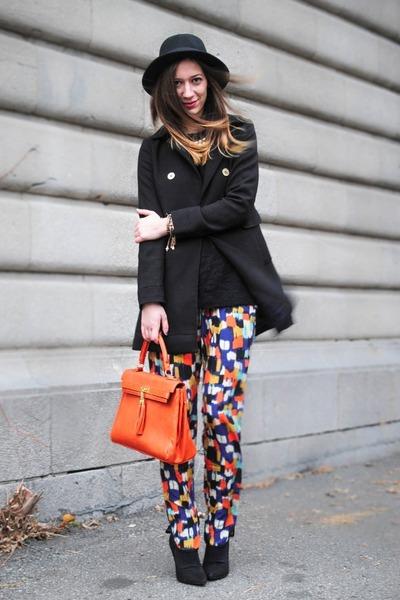 orange Aldo bag - black H&M coat - orange Sugarlips pants