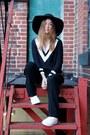Black-h-m-hat-black-oasap-sweater-black-aritzia-pants-white-kwiss-sneakers