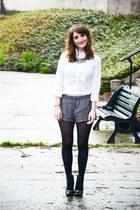 Lollipops boots - Mango shirt - H&M shorts