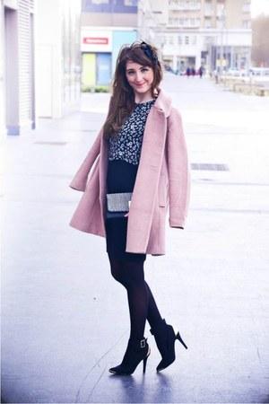 Frontrowshop coat - Zara dress - new look heels