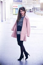 Frontrowshop coat - Zara dress - new look heels