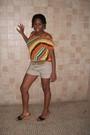 H-m-shorts-orange-blouse-nine-west-shoes