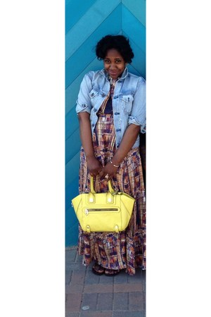 yellow leather tote bag - light yellow H&M Trend dress
