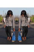 Vanilla Paris bag - Topshop leggings - Primark heels - H&M top