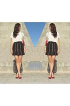 Forever 21 blouse - Forever 21 skirt - Forever 21 heels