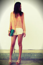 Forever 21 shorts - Forever 21 blouse - Forever 21 accessories