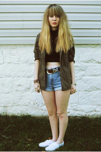 Levis shorts - Keds shoes - American Apparel shirt