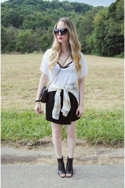 black Nasty Gal bag - black Line & Dot skirt - black Dolce Vita heels