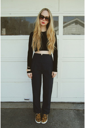 tawny Steve Madden shoes - black Zara shirt - navy Missguided pants