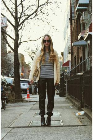 black Urban Outfitters boots - eggshell Koshka sweater