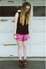 Hot-pink-gifted-native-heart-shorts-black-gifted-she-inside-shirt