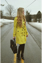 yellow 6ks coat - crimson Pour La Victoire boots - black 31 Phillip Lim bag