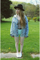 black gypsy warrior hat - light blue Tunnel Vision jacket