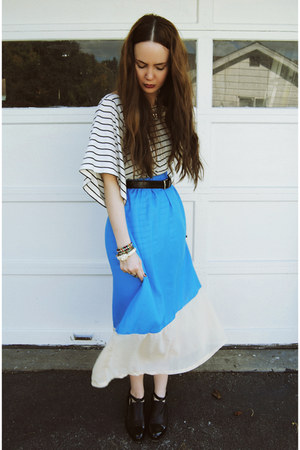 blue gifted o-mighty skirt - white H&amp;M shirt - black Alexander Wang flats