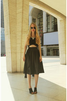 black Alexander Wang shirt - black Boohoo skirt - black Front Row Shop heels