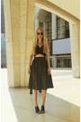 Black-alexander-wang-shirt-black-boohoo-skirt-black-front-row-shop-heels