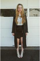 ivory Steve Madden heels - navy minimarket coat