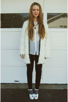 white Wildfox x Jeffrey Campbell shoes - white Ladakh coat