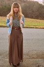 Sky-blue-aeropostale-jacket-light-brown-forever-21-skirt-charcoal-gray-targe
