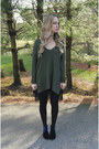 Navy-asos-boots-black-urban-outfitters-dress