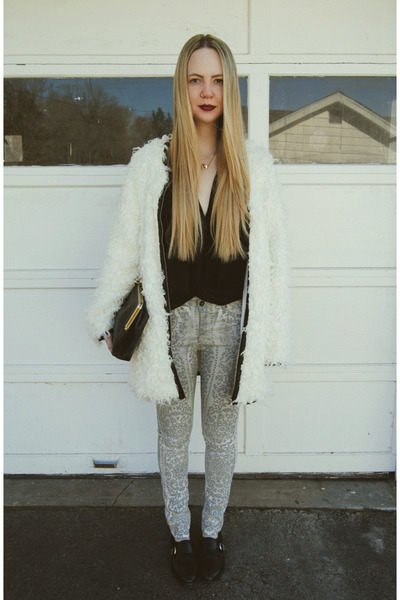 black Talina Hermann shirt - white Miss KL coat - periwinkle Big star jeans