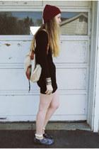 black Forever 21 dress - white gifted le bunny bleu flats