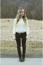 Black-urban-outfitters-boots-black-dbrand-jeans-white-koshka-sweater