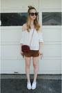 White-converse-shoes-brick-red-rebecca-minkoff-bag-bronze-tobi-shorts