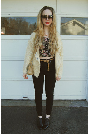 black Kill City jeans - cream Koshka sweater - black Urban Outfitters shirt
