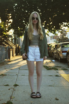 army green American Apparel jacket - charcoal gray Urban Outfitters shirt