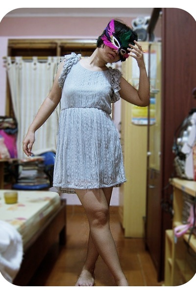 silver Number 61 dress