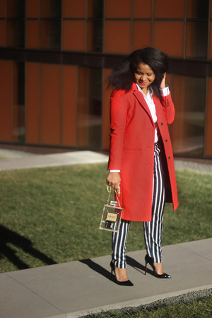 JCrew coat - Zara pants