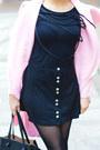 Bubble-gum-sheinside-coat-black-zara-bag-black-boohoo-sandals