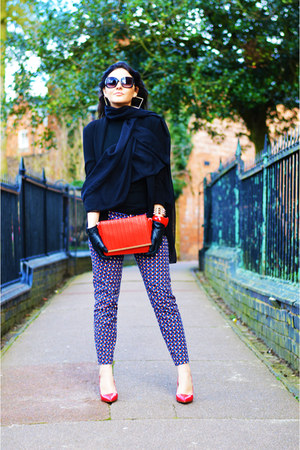red Primark bag - black TK Maxx sunglasses - red Zara heels