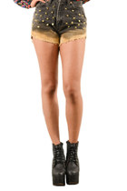 Vintage High waist bleached stuuded LEVI shorts!